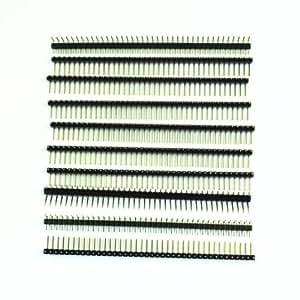 SODIAL(R) 10 x barrette male a 40 broches 2,54mm Seule ligne ¨¤ angle droit