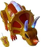 Ferngesteuerter Dino-Saurier, A166, Triceratops r/c Dino Kinder-Spielzeug mit Fernbedienung, Geschenk-idee für Jungen und Mädchen für Weihnachten und zum Geburtstag, Geburtstags-Geschenk