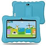BM Kinder Tablet 8GB 512MB 7 Zoll Quad Core Android 4.4 HD 1024x600 iWawa vorinstalliert mit Spiele App und Audio Buch (Blau)