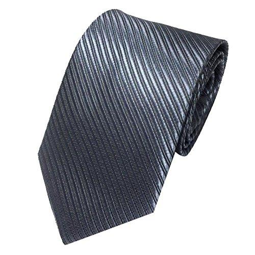 Herren Krawatten SOMESUN Mens-klassischer Jacquardwebstuhl gesponnene gestreifte Krawatte Bindungs Party Hochzeits Krawatte (dunkelgrau)