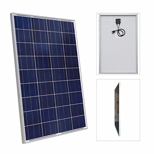 Giosolar Solarmodul Polykristallin 200W (2X100 Watt) Solarpanel – Solarmodul Solarzelle Photovoltaik, 100 W, 12 V PV-Modul Mit 90cm Kabel und MC4 Steckern-Camping - 2