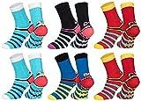 Sockenversandhandel 6 Paar superweiche ABS-Socken Kinder 35-38