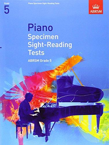 Piano Specimen Sight-Reading Tests, Grade 5 (ABRSM Sight-reading) by ABRSM (3-Jul-2008) Sheet music