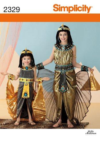 Simplicity HH 35-6-6Schnittmuster 2329Kinder und Mädchen - Nofretete Ägyptisches Kostüm