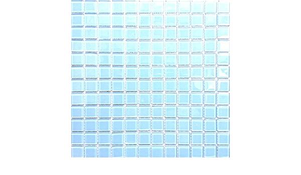 Carrelage mural Mosa/ïque en verre clair Bleu mt0009 30/cm x 30/cm Cuisine Salle de bain Tapis Maison
