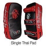 Kickboxing Thai Kick Pad ★ Shield PRO Curved Pads Boxing Karate MMA Training Shields ★ Muay Focus Hook & Jab Curve Arm Strike Bag - 1x Single Pad - Valour Strike®