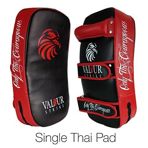 Kickboxing-Thai-Kick-Pad--Shield-PRO-Curved-Pads-Boxing-Karate-MMA-Training-Shields--Muay-Focus-Hook-Jab-Curve-Arm-Strike-Bag-1x-Single-Pad-Valour-Strike