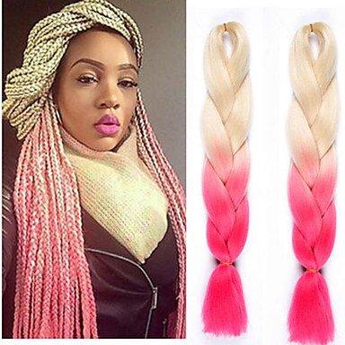 GANTA @ box Trecce Jumbo Extensions per capelli Kanekalon capelli Trecce , black/purple