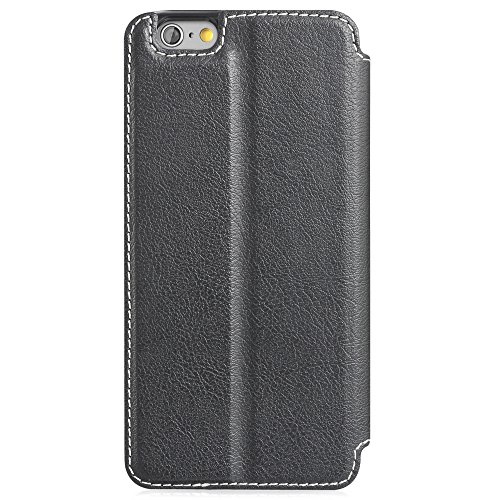 """Fosmon Apple iPhone 6 (4.7"""") (CADDY-TONE) PU Leather Multipurpose (Card Slot) Wallet Case Cover White Stripe"""