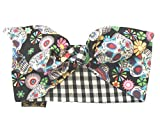 Best Vintage Scarves - Gas Axe Inc Sugar Skull Gingham Black Head Review