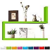 WOLTU RG9272gn-c Schweberegal Wandregal CD/DVD Cubes, MDF Holzregal, Hängeregal Bücherregal, DIY Würfel, grün