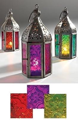 Morocco Mini Moroccan Style Lanterns Yellow / Green
