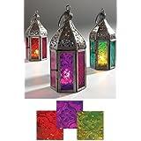 India - Lámparas pequeñas de estilo marroquí, color rojo