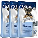 Happy Dog 3 x 4 kg Supreme Mini Baby & Junior