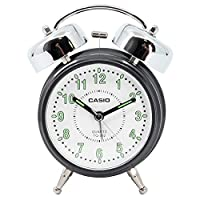 Casio TQ-362-1BDF Alarm Clock, Black