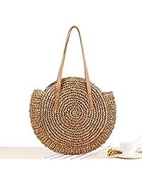 74d27b6412168 Beatie Handtasche beach Straw Geflochtene Woven Strandtasche Handgefertigt  Handtaschen Schultertasche Für Damen Dual-Purpose…
