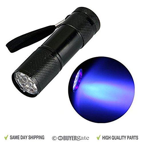Aluminium UV Ultra Violet 9LED Blacklight AAA Taschenlampe Taschenlampe Lampe UK