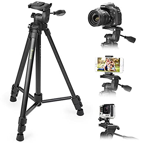 61 Inch Tripod with Adapters and Carrying Bag, Evecase Portable