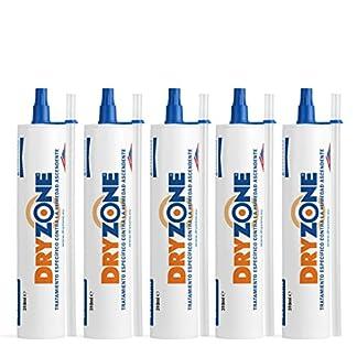 Dryzone Crema Contra la Humedad 5 x 310ml – Crema de Inyección Contra la Humedad para Tratamiento de la Humedad Ascendente