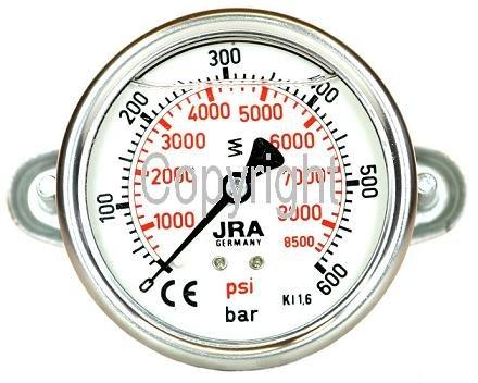 GLICEROL MANOMETRO 0-600 BAR NG63 CONECTOR TRASERO G1/10 16 CM