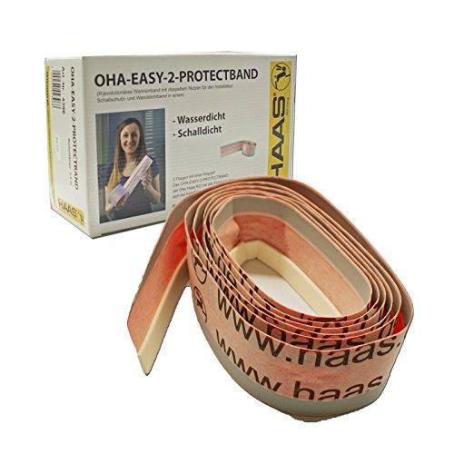 duschwannen dichtband Haas 4396 OHA-Easy-2-Protectband Schalldichtband Fugendichtband Dämmstreifen Wannendichtband Dichtband Fugenband für Badewanne