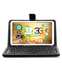 I KALL N9 (1+8GB) Dual Sim (3G+WIFI) Calling Tablet With 1 year Warranty and Keyboard - White