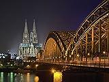 Artland Wandbilder selbstklebend aus Vliesstoff oder Vinyl-Folie Jürgen Feldhaus Kölner Dom Städte Deutschland Köln Fotografie Schwarz A7JA