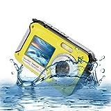 Unterwasser Kamera 1080P Full HD Sport Action Camera 24MP Wasserdicht Kamera mit Dual-Bildschirm Action Cam