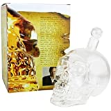 Himolla Crystal Skull tête coupe fantastique Vodka whisky Shot bouteille Accueil Bar Decanter (1000ML)