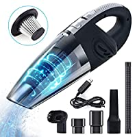 bestseller-hstd Hand Vacuum Cordless Rechargeable, 120W 4000 PA Powerful Suction Handheld Vacuum with 2200mAh Lithium Battery, Wet Dry Portable Vacuum Cleaner for Car, Pet Hair, Dust, Home