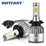 H7 LED Phare Ampoules Voiture Auto COB Lampe 72W 6500K 8000LM Super Bright