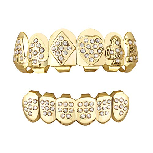 rillz zähne set new custom fit 24k plaqué cruz diamanten grillz - ausgezeichnete cut ()