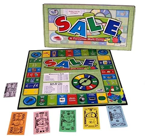 Sale: A Consumer Math Game [With Instructions, Financial Record Pad, 4 Pawns, Curre and Gameboard]