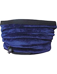 Adult's Unisex 2 in 1 Thermal Contrast Fleece Winter Snood Scarf with Adjustable Toggle