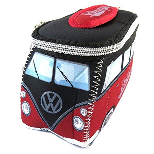 Volkswagen [P1365] - Trousse de toilette 'Volkswagen' rouge noir - 23x13x7.5 cm