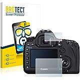 2x BROTECT HD-Clear Protector Pantalla Canon EOS 5D Mark III Película Protectora – Transparente, Anti-Huellas