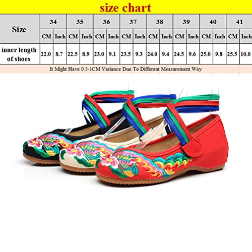 Zhhlinyuan Womens Ethnic Style Cloth Shoes Unique Chinese Style Soft Sole Shoes Beige