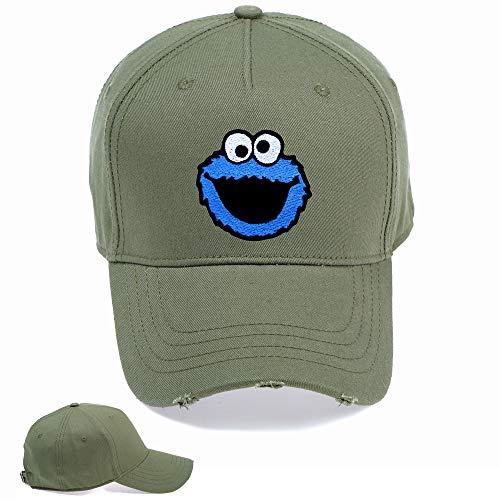 MCP BRAND Baseballmütze mit blauem Monster-Motiv, Vintage-Stil, gewittert, modisch, Bestickt, Hip-Hop-Mütze, Blau