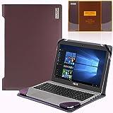 Broonel London - Profile Series - Etui violet en cuir de luxe pour ordinateur portable pourAsus Zenbook UX510UW