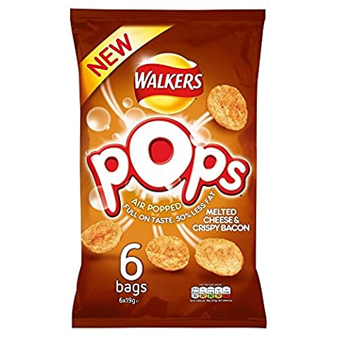 Walkers Pops - Melted Cheese & Crisp Bacon (6x19g)