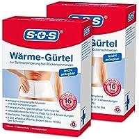 SOS Wärme-Gürtel (2er Pack) - Schmerzlinderung bei Rückenschmerzen (2x1 Gürtel) preisvergleich bei billige-tabletten.eu