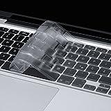HOOMIL Tastaturschutz Silikon Tastaturfolie für Apple MacBook Air 13''/ Pro Retina 13''/ 15'' (bis Mitte 2016) - Transparen