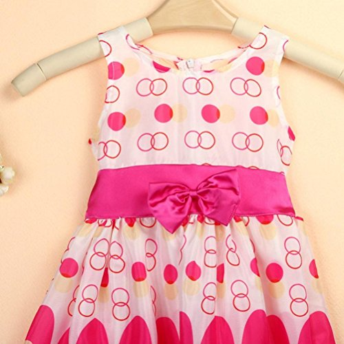 Girls Bow Belt Sleeveless Bubble Peacock Dress Kids Baby Party Sundress Dresses