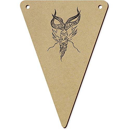 Azeeda 5 x 140mm 'Dragon Tête' Fanions Triangles en Bois (BN00048240)