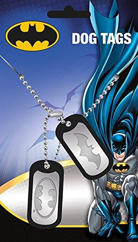 DC Universe Batman Logo Dogtag stahl-matt - - Halskette Tag Dog Batman