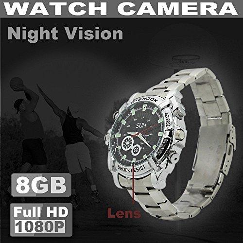 HD Mini Uhr Kamera Watch Wasserdicht 1080p Spion Kamera Nachtsicht 4GB Spion Armbanduhr