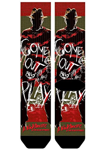 Nightmare on Elm Street Freddy Krueger Sublimated Socks Standard