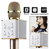 #3: Karaoke Mike Handheld Wireless Q7 Microphone With Bluetooth Speaker For All iOS/Android Smartphones (Random Color)