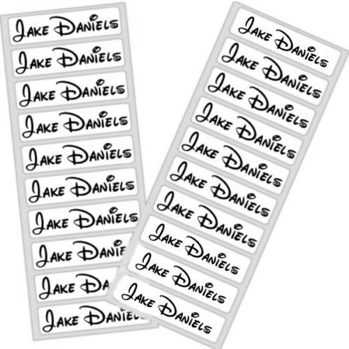vorgeschnittenen Persönlichen bedruckt Name Tapes Etiketten Schule, Uniform Tags Disney Eisen auf Schule Uniform Etiketten Name Tag Pflege Home Wasserfeste Schild Name Kids Kleidung Etiketten washing-proof Kinderzimmer Name ()