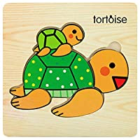 Whiie891203 Puzzle Table IQ Game Educational Toys,Wooden 3D Tiger Fish Marine Animal Jigsaw Puzzles Board Educational Toy for Kids and Adults, Birthday & Christmas Gift Choice